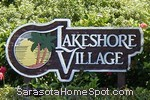 sign in front of Lakeshore Village in Sarasota