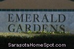 sign in front of Emerald Gardens in Sarasota
